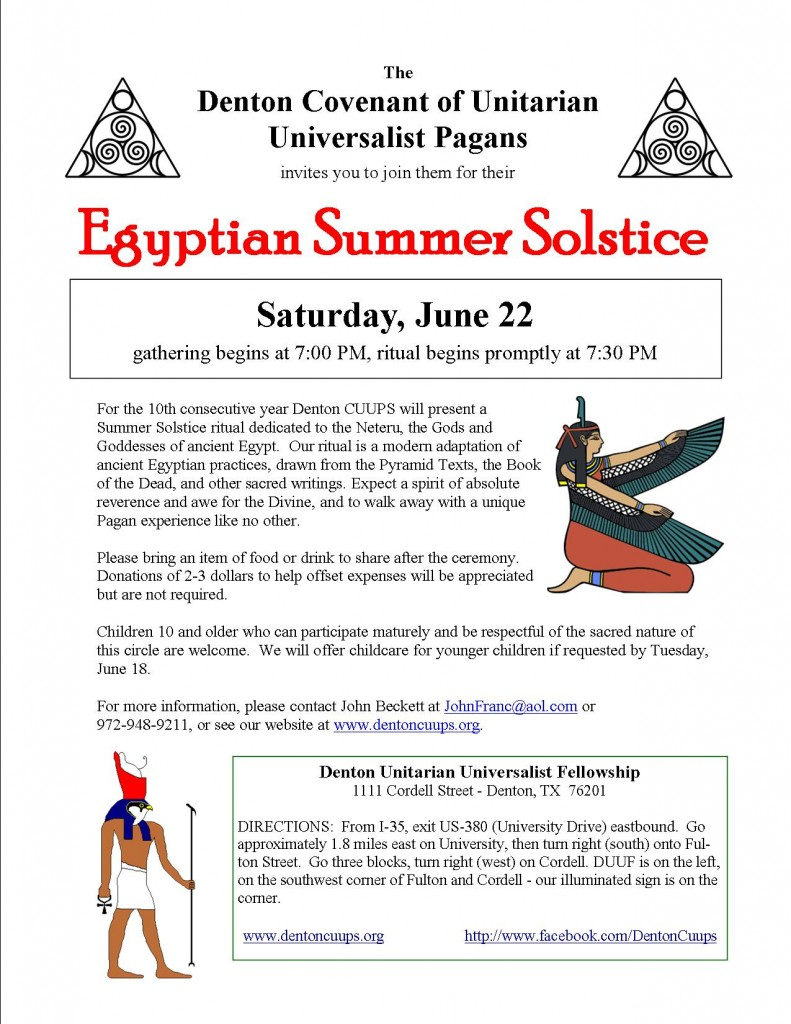 Egyptian Summer Solstice 2013 early