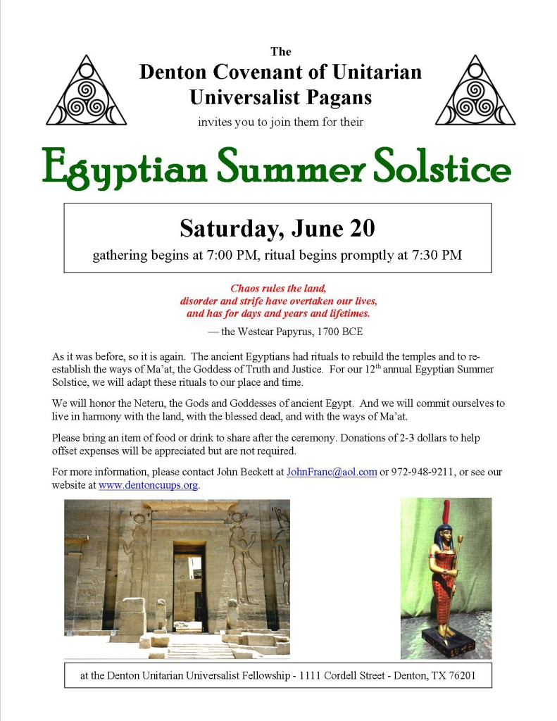 Egyptian Summer Solstice 2015